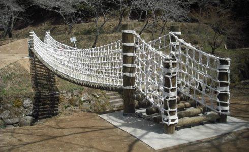 吊り橋のサイドネット