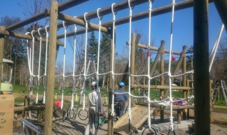相模湖周辺の公園の遊具ロープ